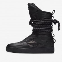 Chaussure Casual Nike SF Air Force 1 Homme Noir/Grise Foncé (294HBDPR)