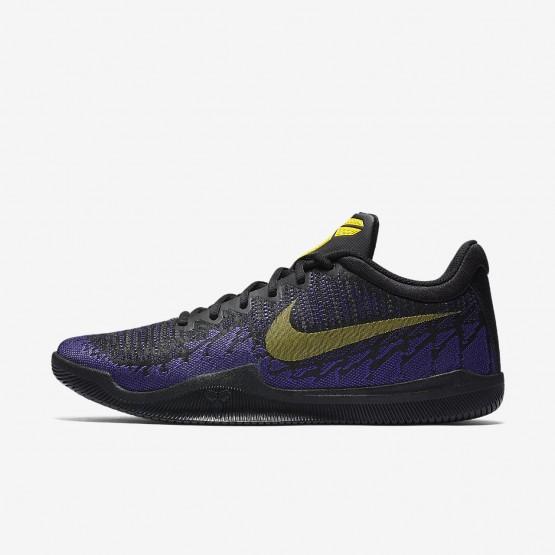 Nike Mamba Rage Basketball Shoes Mens Black/Court Purple/Tour Yellow (301AJZMK)