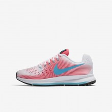 Nike Zoom Pegasus Hardloopschoenen Meisjes Roze/Wit/Zwart/Blauw (304PEBXG)