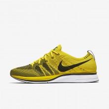 Nike Flyknit Trainer Lifestyle Shoes Mens Bright Citron/White/Black (315PUEQS)