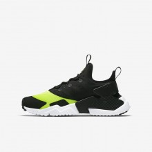 Nike Huarache Lifestyle Shoes Boys Volt/White/Black (322PXQAZ)