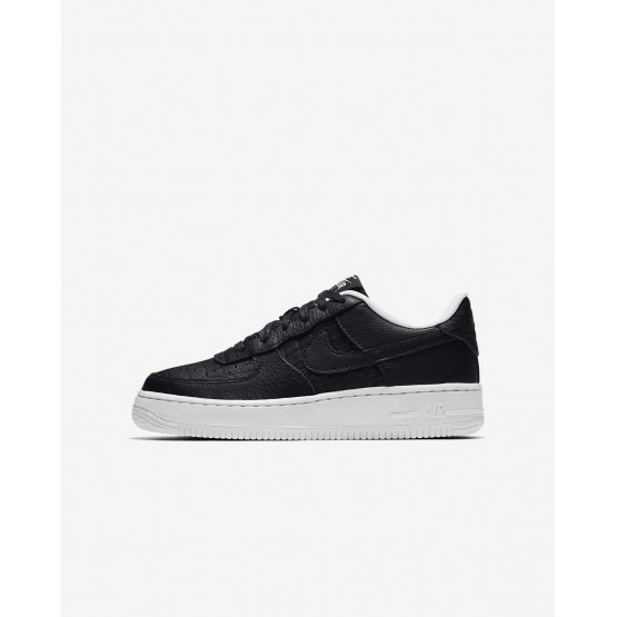 Nike Air Force 1 Lifestyle Shoes Boys Black/Summit White (323CVKSL)