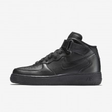 Nike Air Force 1 Lifestyle Shoes Womens Black (325XPOBV)