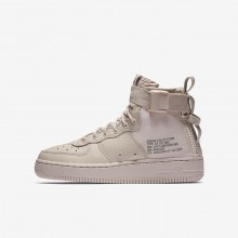Nike SF Air Force 1 Lifestyle Shoes Boys Siltstone Red/Dust (327UZRNI)