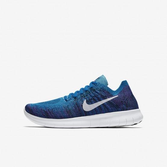 Nike Free RN Running Shoes Boys Blue Orbit/Black/Hyper Grape/Pure Platinum (331RAKEF)