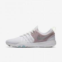 Nike Free TR Training Shoes For Women White/Elemental Rose/Volt Glow/Metallic Silver (332TBQZY)