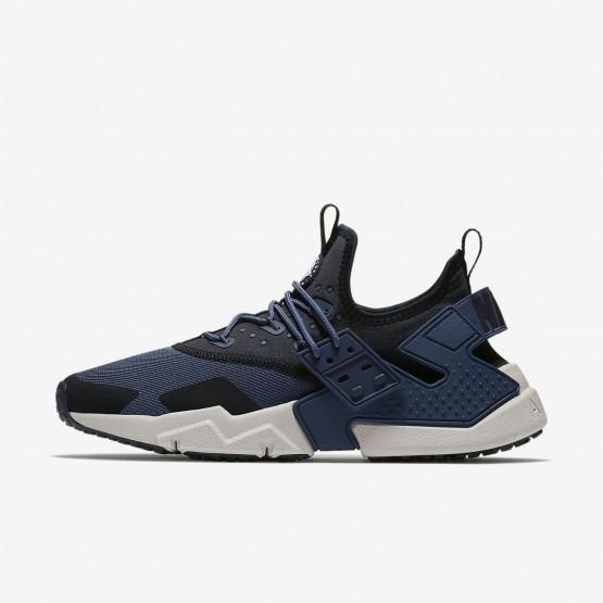 Nike Air Huarache Lifestyle Shoes Mens Thunder Blue/Black/White/Desert Sand (334JBAUQ)