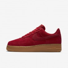 Nike Air Force 1 Lifestyle Shoes Womens Gym Red/Gum Light Brown/Speed Red (335GPBQY)
