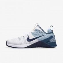 Nike Metcon DSX Training Shoes For Women White/Mica Blue/Night Factor/Navy (335VKZFI)