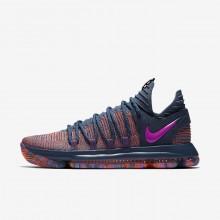 Nike Zoom KDX Basketball Shoes For Women Ocean Fog/Hyper Crimson/Fuchsia Blast (338DGXFN)