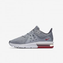 Nike Air Max Sequent Running Shoes For Boys Wolf Grey/Anthracite/Pure Platinum (338WVPBH)