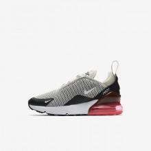 Nike Air Max 270 Lifestyle Shoes Boys Light Bone/Black/Hot Punch/White (342DCGSZ)