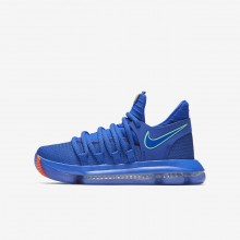 Nike Zoom KDX Basketball Shoes For Boys Racer Blue/Black/Total Crimson/Light Menta (350RSMKT)