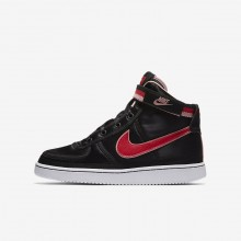 Nike Vandal High Supreme QS Lifestyle Shoes Girls Black/Bleached Coral/White/Speed Red (359GDZST)