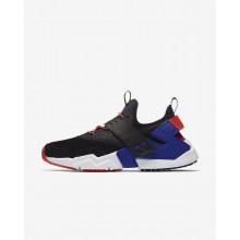 Nike Air Huarache Lifestyle Shoes Mens Black/Rush Orange/Lagoon Pulse/Rush Violet (360TFXED)