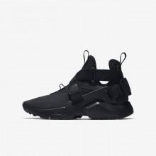 Nike Huarache Casual Sko Drenge Sort/Hvide (367BVZMA)