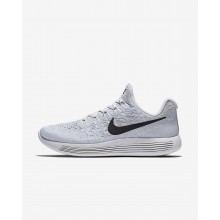 Nike LunarEpic Low Running Shoes Womens White/Pure Platinum/Wolf Grey/Black (370CYTFO)