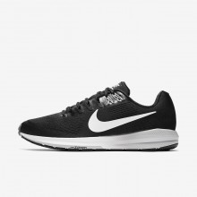 Nike Air Zoom Running Shoes For Men Black/Wolf Grey/Cool Grey/White (370HTKVU)