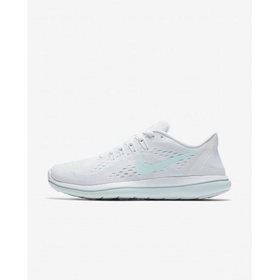 Chaussure Running Nike Flex 2017 RN Femme Blanche/Bleu/Menthe/Bleu (371BWURI)