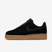 Nike Air Force 1 Lifestyle Shoes Womens Black/Gum Medium Brown/Ivory (371WDYLP)