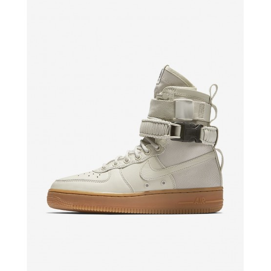 Chaussure Casual Nike SF Air Force 1 Femme Clair Marron (379BFKSR)