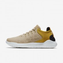 Nike Free RN Running Shoes Womens Desert/Yellow Ochre/Oil Grey (385SQEIM)