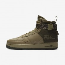 Nike SF Air Force 1 Lifestyle Shoes For Men Neutral Olive/Cargo Khaki (386CIUGV)