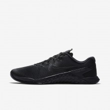 Nike Metcon 4 Training Shoes Mens Black/Hyper Crimson (386JCDQX)
