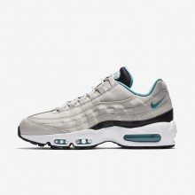 Nike Air Max 95 Lifestyle Shoes For Men Light Bone/Black/White/Sport Turquoise (393FVNUC)