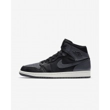 Air Jordan 1 Lifestyle Shoes Mens Black/Summit White/Dark Grey (403EJHPR)