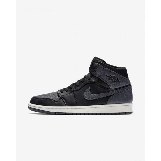 Air Jordan 1 Lifestyle Shoes Mens Black/Summit White/Dark Grey (403EJHPR)