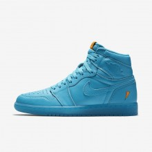 Air Jordan 1 Lifestyle Shoes Mens Blue Lagoon (404UPLJT)