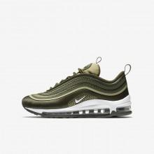 Nike Air Max 97 Lifestyle Shoes For Boys Cargo Khaki/River Rock/Neutral Olive/White (407YZRXN)