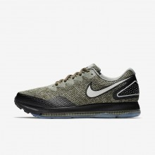Nike Zoom All Out Running Shoes For Men Cargo Khaki/Black/Light Bone (408QOIWA)