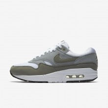 Nike Air Max 1 Lifestyle Shoes Womens White/Light Pumice/Black/Dark Stucco (409WOKNP)