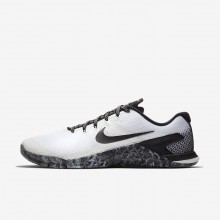 Nike Metcon 4 Training Shoes Mens White/Sail/Black (411KECFN)