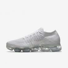 Nike Air VaporMax Running Shoes Womens White/Sail/Light Bone (413IGKJU)