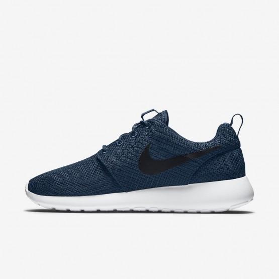 Chaussure Casual Nike Roshe One Homme Bleu Marine/Blanche/Noir (419OHQZP)