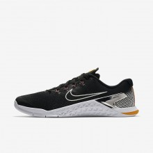 Nike Metcon 4 Training Shoes Mens Black/Laser Orange/Fuchsia Blast/Metallic Silver (420WDSTA)