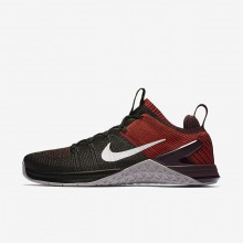 Nike Metcon DSX Training Shoes For Men Black/Chile Red/Vast Grey (426QRMDA)