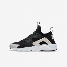 Nike Air Huarache Lifestyle Shoes Boys Black/White/Barely Rose (434QUNTH)