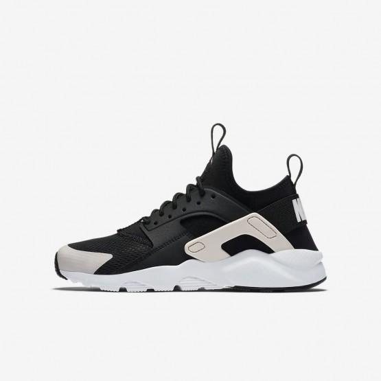 Nike Air Huarache Lifestyle Shoes For Boys Black/White/Barely Rose (434QUNTH)