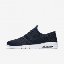 Nike SB Stefan Janoski Max Skateboarding Shoes For Men Obsidian/Mineral Gold (442AKNME)