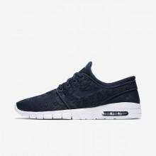 Nike SB Stefan Janoski Max Skate Schoenen Heren Obsidian/Goud (442AKNME)