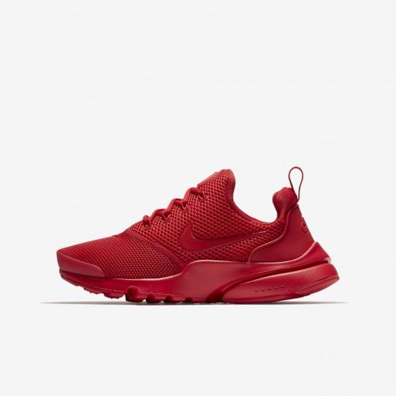 Chaussure Casual Nike Presto Fly Garcon Rouge (443JOZUR)