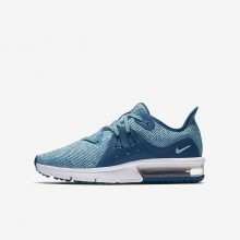 Nike Air Max Sequent Running Shoes Girls Green Abyss/Bleached Aqua/White/Igloo (448MIGNP)