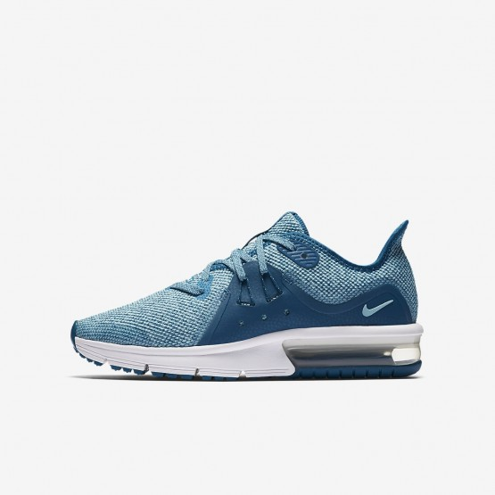 Nike Air Max Sequent Running Shoes For Girls Green Abyss/Bleached Aqua/White/Igloo (448MIGNP)