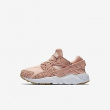 Nike Huarache Lifestyle Shoes Girls Coral Stardust/Gum Light Brown/White/Rust Pink (448OBRMD)