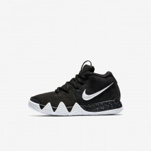 Nike Kyrie 4 Basketball Shoes For Girls Black/Anthracite/Light Racer Blue/White (453GHAQK)
