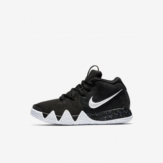 Nike Kyrie 4 Basketball Shoes Girls Black/Anthracite/Light Racer Blue/White (453GHAQK)